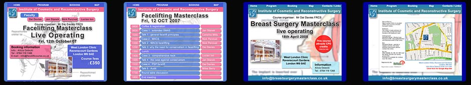 cosmetic surgery courses and events featuring British surgeon Mr Miles G Berry