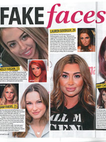 Fake celebrity faces articles
