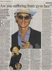 The Times article featuring surgeon Mr Miles Berry